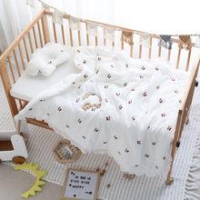 Couette de bébé en coton avec princesse falbala, couverture de lit pour bébé, en mousseline de coton, pour les nouveau-nés, toutes saisons, 100x100cm
