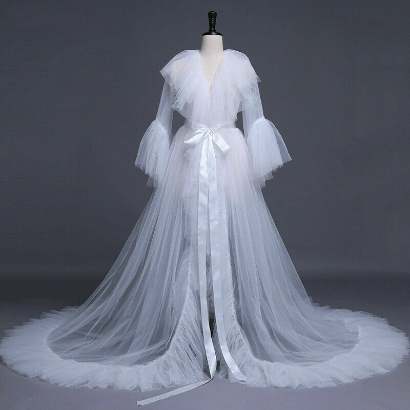 Brand New Hot Sales Women Sexy Lingerie Long Sleeves Lace Dress Sheer Gown See Through Kimono Robe Sleepwear