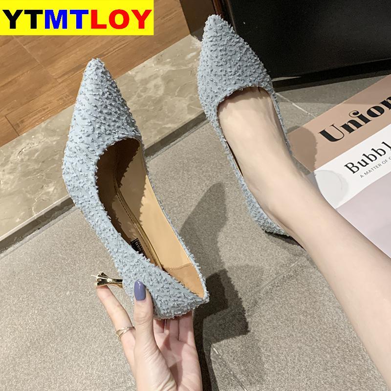 New Pointed Toe Fetish Luxury Designer Woman Extreme Mules Super High Heels Women Sexy Shoes Ladies Pumps Stripe  Wedding Heels