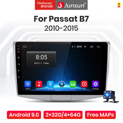 Junsun-Radio Multimedia V1 Pro con GPS para coche, Radio con reproductor, 4 GB + 64 GB, Android 10,0, 4 GB, navegador, 2DIN, dvd, para Passat B7