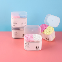 300 Pcs Cotton Buds Two Colors Double Head Multi-Function Sticks for Beauty Makeup Nose Ears Cleaning Extension Eyelash  Tools