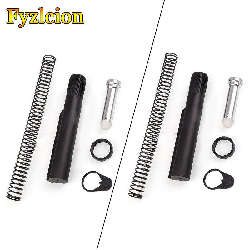 2Sets Hunting Accessories AR15 Mil-spec 6 Position Buffer Tube Assembly /Kit AR-15 6 Position Stock  W/ Mil-spec Size