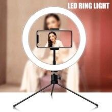 Hot Sale Selfie Ring Light Desktop Photography Led Selfie Ring Light With Tripod Stand Studio Ring Light with Cell Phone Holder фонарь aceshley led cелфи кольцо aceshley selfie ring light