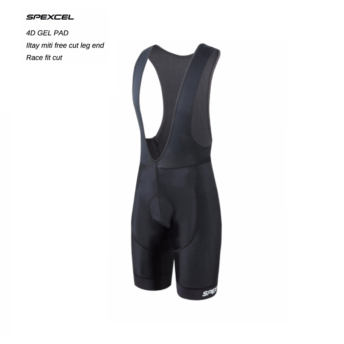 SPEXCEL High Quality Classic Bib Shorts Race Bicycle Bottom Ropa Ciclismo Bike Pants 4D Gel Pad Italy Silicon Grippers At Leg