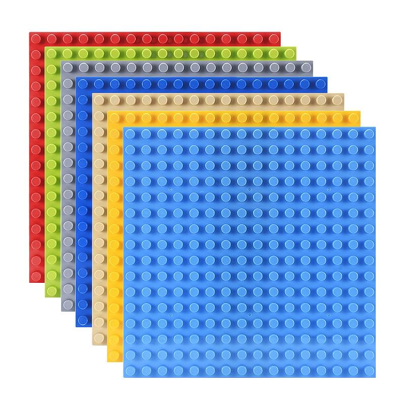Базовая пластина для больших кирпичей, 7 цветов, 16*16 точек, совместимая с Duploed, «сделай сам», большие строительные блоки для детей, игрушки