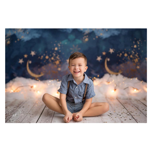 Image 5 - NeoBack Gold Moon Stars Flash Newborn Photography Backdrop Baby Shower Birthday Party Children Photocall Studio Photo Background