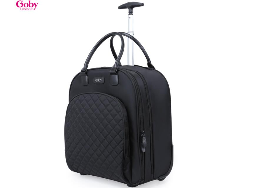 "18"" Inch women Travel trolley bags Rolling luggage bags Women wheeled bag for short trip trolley bag Trolley suitcase on wheels"
