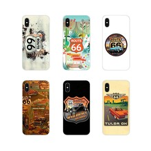 For ZTE Blade A5 2019 V6 V7 V8 Lite V9 V10 A 452 510 512 520 530 602 610 910 TPU Transparent Case Covers Travel America Route 66(China)