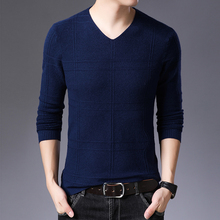 2019 New Fashion Brand Sweater Mens Pullover Pure color Slim Fit Jumpers Knitred Woolen Autumn Korean Style Casual Men Clothes new fashion brand sweater for mens cardigan slim fit jumpers knitwear warm autumn korean style casual clothing men