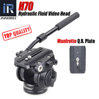 INNOREL H70 Panoramic Video Hydraulic Fluid Tripod Head for Camera Tripod Monopod Slider Stabilizer with Quick Release Plate