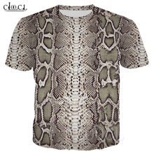 Футболка Мужская/женская с змеиным принтом модная уличная одежда