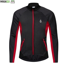 Windbreaker Jacket Waterproof Coat Bicycle WOSAWE Fleece Sports Warm-Up Outdoor MTB