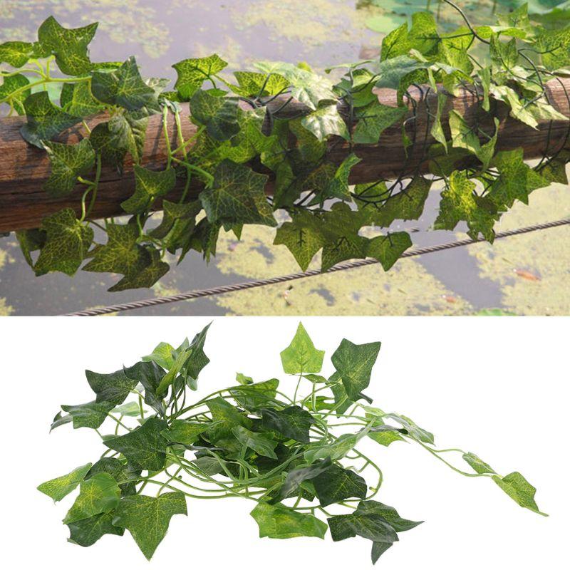 Artificial Vine Reptile Lizards Terrarium Decoration Chameleons Climb Rest Plants Leaves GXMA
