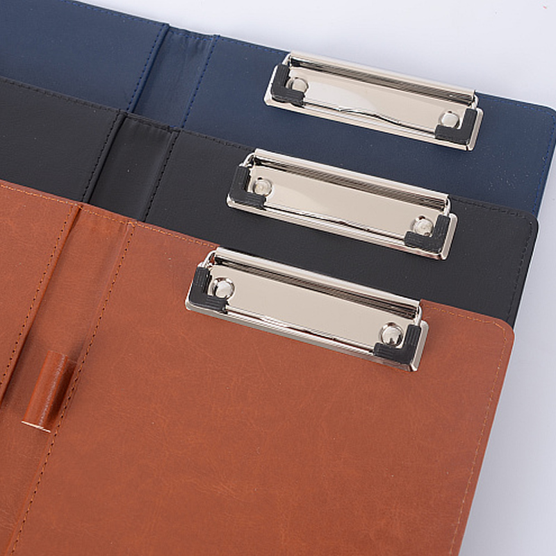 Image 4 - A4 Clipboard Folder Portfolio Multi function Leather Organizer Sturdy Office Manager Clip Writing Pads Legal Paper ContractPadfolio   -