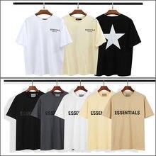 2021New Oversized T-Shirt Essentials Reflective T-Shirt Men's/Women's 1:1 High Quality Summer Cotton Hip-Hop Trend Short Sleeve