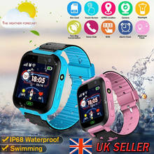 Children Smart Watch with GPS GSM Locator Touch Screen Tracker SOS Kids Children(China)