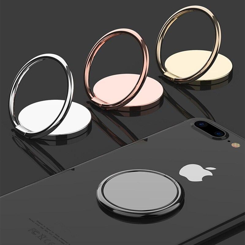 Support de prise de téléphone Mobile en métal de luxe universel 360 degrés Rotation doigt porte-anneau support de voiture magnétique accessoires de support
