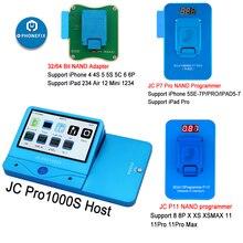 JC Pro1000S JC P7 Pro PCIE NAND programator 32/64 bitowy dysk twardy czytaj narzędzie do naprawy zapisu dla iPhone 7 7 P 6 6S 6P 6SP 5 4 wszystkie iPad odblokuj