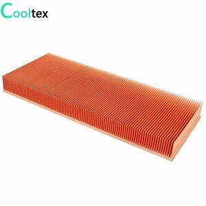 Image 3 - 100% ใหม่ 200x80x20 มม.ฮีทซิงค์ทองแดงบริสุทธิ์ Skiving Fin สำหรับชิปอิเล็กทรอนิกส์ LED Power เครื่องขยายเสียง Cooling Cooler