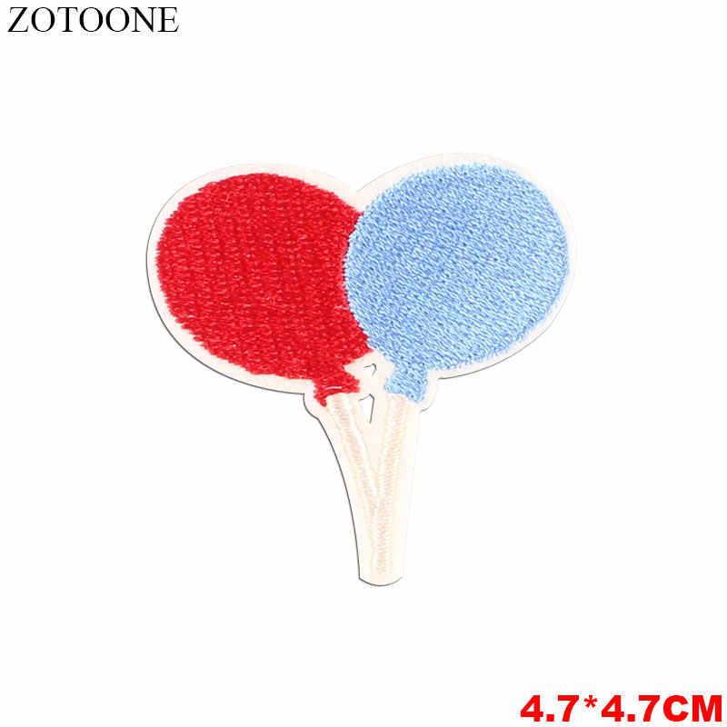ZOTOONE Color Ball Parches haftowane żelazko na plastry na odzież śliczne Hot balon dmuchany łatki DIY paski odznaki aplikacje I