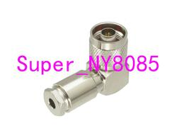 Connector N male plug Clamp For RG58 RG142 LMR195 RG400 cable Right angle