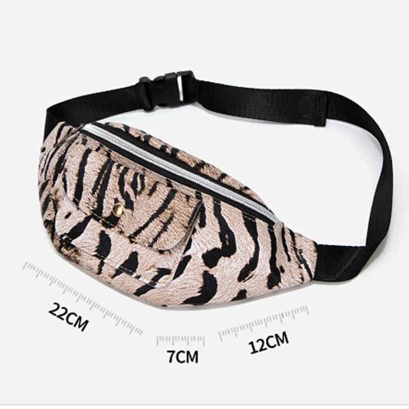 Nieuwe Vrouwen Mannen Tiger Print Mode Taille Fanny Pack Belt Bag Travel Hip Bum Portemonnee Borst Zakje Cross-body tas