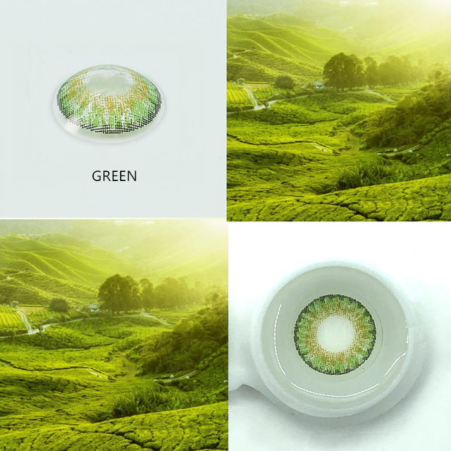 EYESHARE- 2pcs/pair 3 Tone Series Colored Contact Lenses  for eyes  Colored Eye Lenses Color Contacts 5