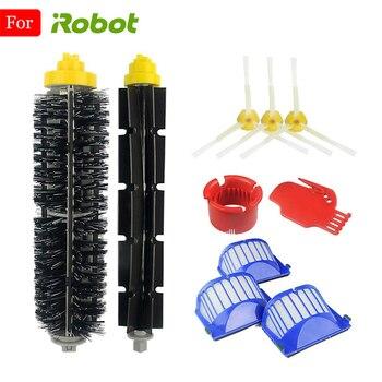 For iRobot Roomba Vacuum Cleaner Parts Main Brush Side Brush Air Filter HEPA 600 610 620 621 625 630 631 650 651 660 671 680 690 цена 2017