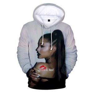 Image 4 - 2019 Nieuwe 3D Ariana Grande Dank U Volgende Hoodies Sweatshirt Vrouwen/Mannen Vrouwen Casual 3D Ariana Grande Hoodies Sweatshirts XXS 4XL
