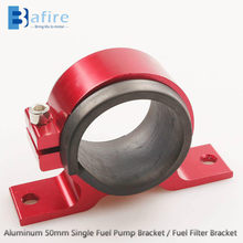 Bafire Universal Mobil Aluminium 50 Mm Single Pompa Bahan Bakar Bracket / Fuel Filter Bracket(China)
