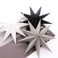 1 Uds 27cm 3D ángulos de papel estrella colgando reutilizable árbol para fiesta de Navidad ornamento de la fiesta en casa de la boda de la pared de dormitorio decoración DIY