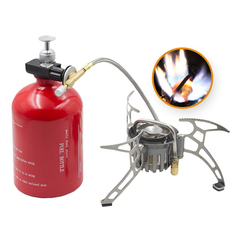 APG 1000Ml Outdoor Gasoline Stove Multi-Purpose Camping Oil And Gas Stove Fuel Bottle Camping Tool Outdoor Portable Cookware