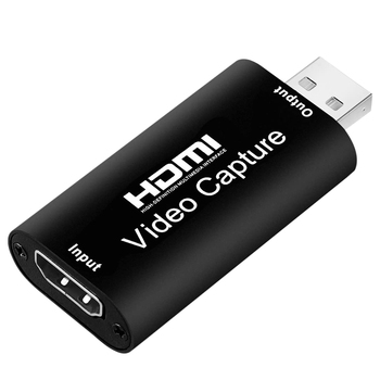 o Video Capture Cards HDMI to USB 2.0 1080P 4K Record Via DSLR Camcorder Action Cam for High Definition Acquisition