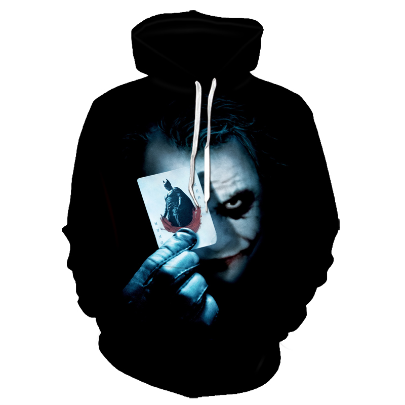 Halloween Hoodies With Print Of A Clown  A Lace For Men And Women; Casual Pullovers With A Hood For Couples; Street Clothes