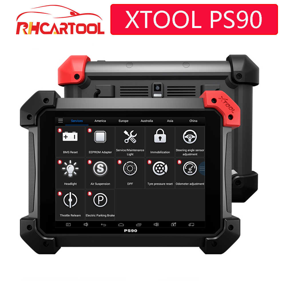 Диагностический инструмент XTOOL PS90 автомобильный OBD2 с ключом программист/одометр коррекция/EPS Поддержка нескольких моделей автомобилей лучшие ez400 ez500