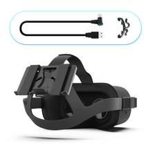 Powerbank suporte de fixação busca bateria suporte para oculus quest 2/1 ou vive luxo cinta de áudio vr fone ouvido acessórios do jogo