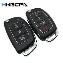 3% 2F4 кнопки складывание флип ключ чехол брелок для Hyundai Santa Fe Solaris I40 ix35 I30 I45 Sonata Tucson Accent Car Remote Key Shell