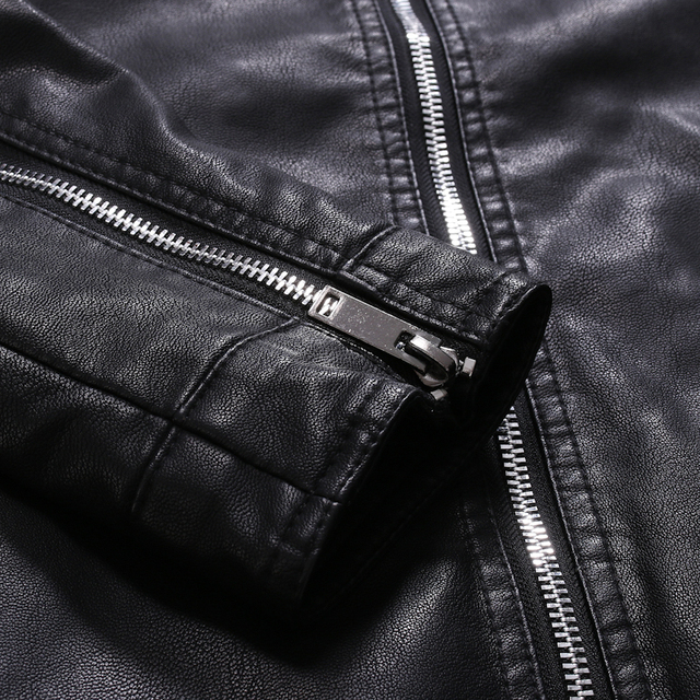 Men Faux Leather Jacket Motorcycle 5XL Men's  Jackets Black  Jaqueta De Couro Masculina Outwear Male PU Leather Coats Mens,ZA319 5