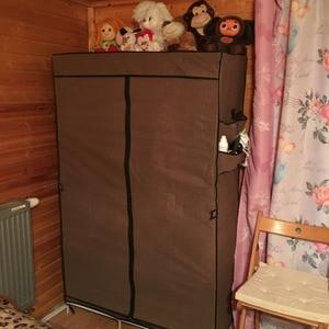 Image 5 - クリアランスセール diy ワードローブ不織布ワードローブクローゼット折りたたみポータブル衣類収納キャビネット寝室の家具