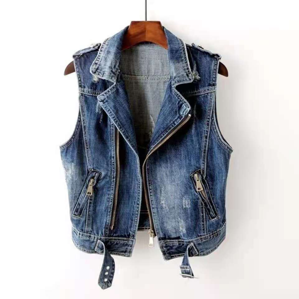 Hec41bed5b9074756a11a0c78642650edb Fashion Denim Vest Female Spring Autumn Sleeveless Wild Tops Short Jacket Women Plus Size 5XL Smoky Gray Jean Waistcoat