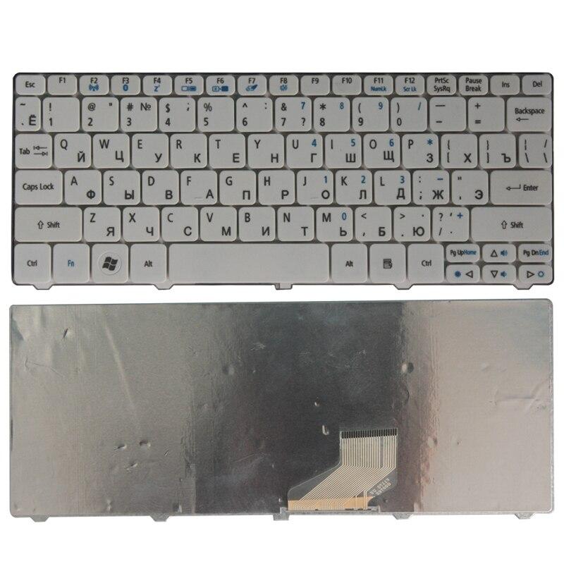 NEW Russian Keyboard For Acer Aspire One D257 AOD532H PAV70 NAV70 ZH9 PAV01 521 532 532H 533 D255 D260 D270 Laptop White RU