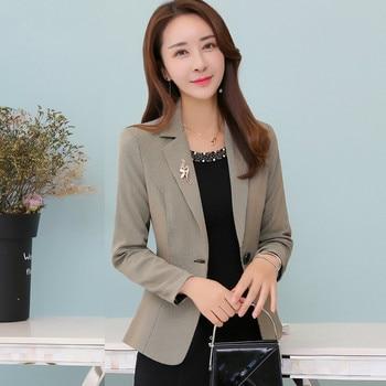 2020 Autumn Korean Version Women Suit  New Style Winter One Button Long Sleeve Xxxl Designs Work Wear Female Fashion Slim Tops 2020 fashion female women s clothing new slim style in korean version long sleeve coats and jackets