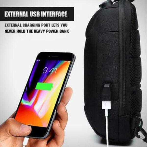 Hot Anti-theft Backpack With 3-Digit Lock Shoulder Bag Waterproof For Mobile Phone Travel K2