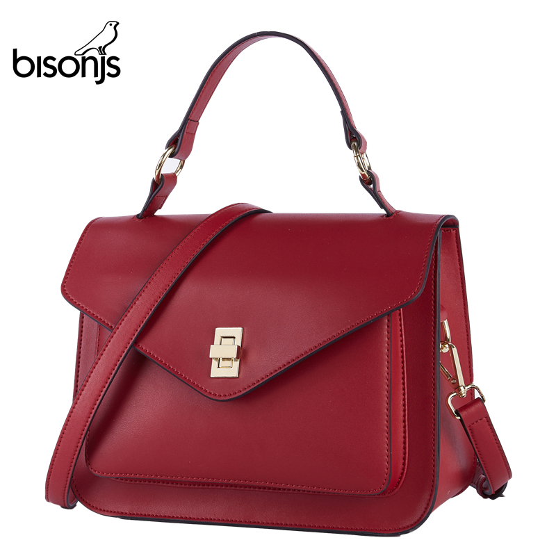 BISONJS Women's Bag Messenger-Bags Luxury Handbags Vintage Female Designer B1930