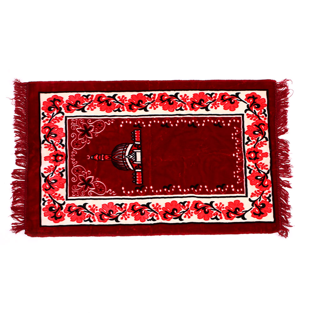 Muslim Prayer Rugs Velvet Fabric Classic Salat Islamic Moroccan Cotton Printed