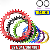 Bicycle Crank Crankset Tooth Round 104BCD Bicycle Chainwheel 32T 34T 36T 38T MTB Ovalsize Chainring Bike Parts Cycling Equipment