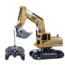 RC Simulation Toy RC Excavator Remote Control Vehicle With Light For Boys Universal Remote Control Toys Children Collection Toys