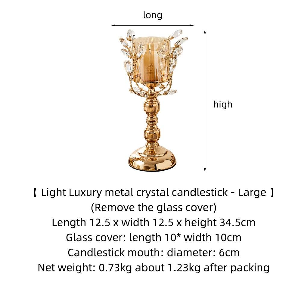 Gold Metal Pillar Candle  6