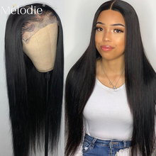 26 28 30 Inches Straight Closure Wig Lace Front Human Hair Wigs Brazilian Hair 4x4 Pre Plucked Glueless Lace Frontal Wig