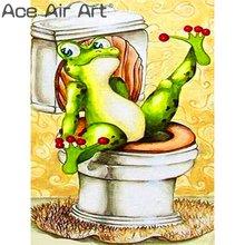 5d полноразмерная Алмазная картина «сделай сам» забавная лягушка